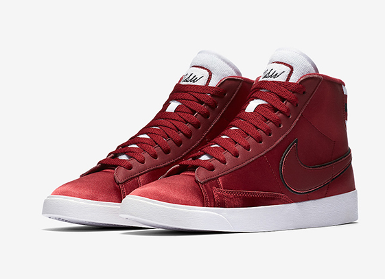 "Nike Blazer Mid Satin ""Red Crush"" 货号:AV9375-605"