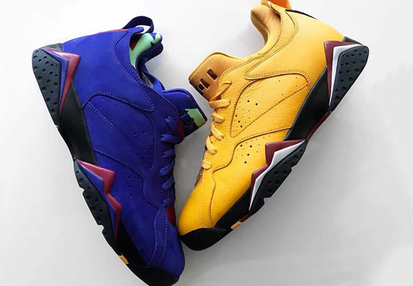 "Air Jordan 7 Low NRG ""Bright Concord"" ""Taxi"""